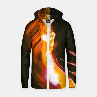 Thumbnail image of light in the sandstone cave abstract at Antelope Canyon, Arizona, USA Zip up hoodie, Live Heroes