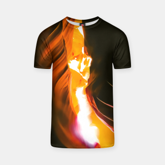 Thumbnail image of light in the sandstone cave abstract at Antelope Canyon, Arizona, USA T-shirt, Live Heroes