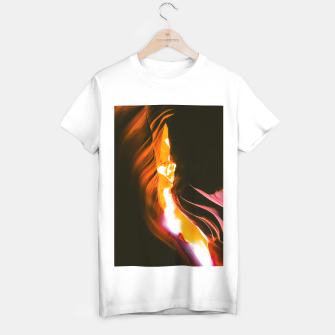 Thumbnail image of light in the sandstone cave abstract at Antelope Canyon, Arizona, USA T-shirt regular, Live Heroes