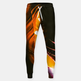 Thumbnail image of light in the sandstone cave abstract at Antelope Canyon, Arizona, USA Sweatpants, Live Heroes