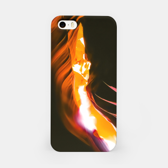 Thumbnail image of light in the sandstone cave abstract at Antelope Canyon, Arizona, USA iPhone Case, Live Heroes