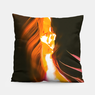 Thumbnail image of light in the sandstone cave abstract at Antelope Canyon, Arizona, USA Pillow, Live Heroes