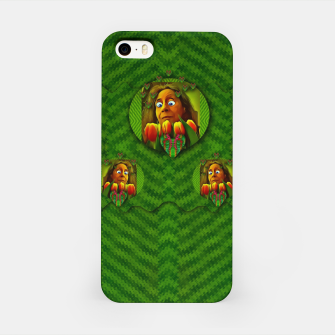 Thumbnail image of lady cartoon love her tulips in peace iPhone Case, Live Heroes