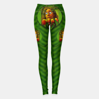 Thumbnail image of lady cartoon love her tulips in peace Leggings, Live Heroes