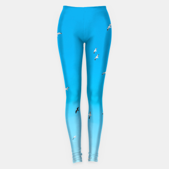 Thumbnail image of flying birds over the blue sky Leggings, Live Heroes