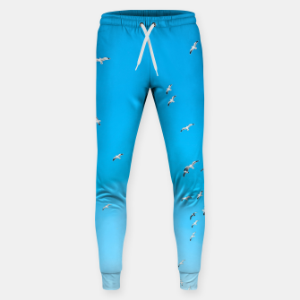 Thumbnail image of flying birds over the blue sky Sweatpants, Live Heroes