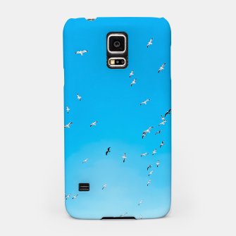 Thumbnail image of flying birds over the blue sky Samsung Case, Live Heroes