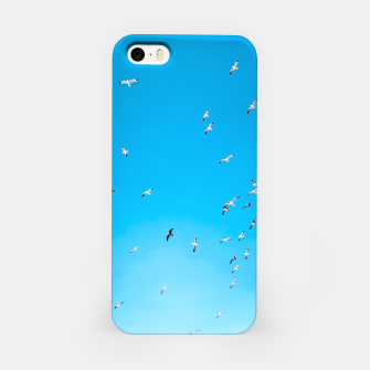 Thumbnail image of flying birds over the blue sky iPhone Case, Live Heroes