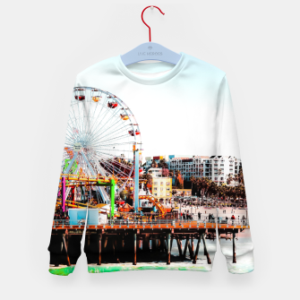 Thumbnail image of ferris wheel with beach view at Santa Monica pier California USA  Kid's sweater, Live Heroes