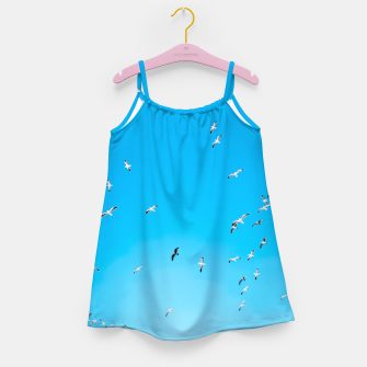 Thumbnail image of flying birds over the blue sky Girl's dress, Live Heroes