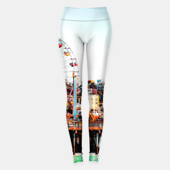 Thumbnail image of ferris wheel with beach view at Santa Monica pier California USA  Leggings, Live Heroes