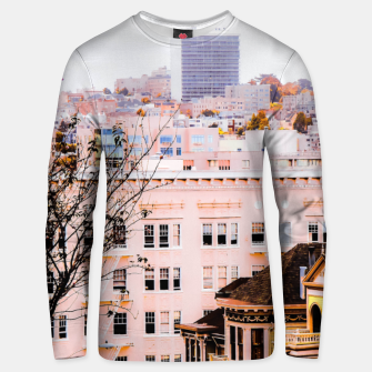 Thumbnail image of City view at Alamo Square, San Francisco, California, USA Unisex sweater, Live Heroes