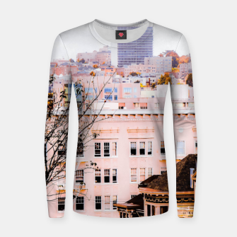 Thumbnail image of City view at Alamo Square, San Francisco, California, USA Women sweater, Live Heroes