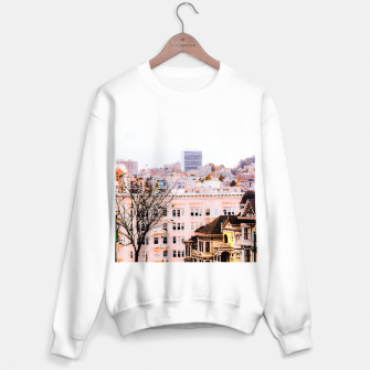 Thumbnail image of City view at Alamo Square, San Francisco, California, USA Sweater regular, Live Heroes