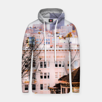Thumbnail image of City view at Alamo Square, San Francisco, California, USA Hoodie, Live Heroes