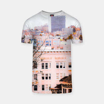 Thumbnail image of City view at Alamo Square, San Francisco, California, USA T-shirt, Live Heroes