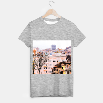 Thumbnail image of City view at Alamo Square, San Francisco, California, USA T-shirt regular, Live Heroes