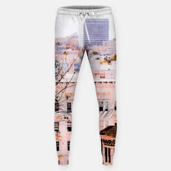 Thumbnail image of City view at Alamo Square, San Francisco, California, USA Sweatpants, Live Heroes
