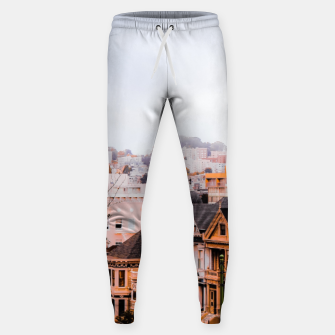 Thumbnail image of before sunset city view at Alamo Square, San Francisco, California, USA Sweatpants, Live Heroes