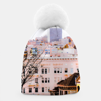 Thumbnail image of City view at Alamo Square, San Francisco, California, USA Beanie, Live Heroes