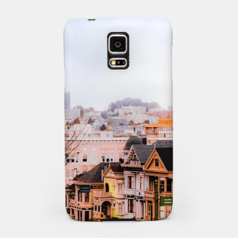 Thumbnail image of before sunset city view at Alamo Square, San Francisco, California, USA Samsung Case, Live Heroes