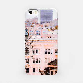 Thumbnail image of City view at Alamo Square, San Francisco, California, USA iPhone Case, Live Heroes