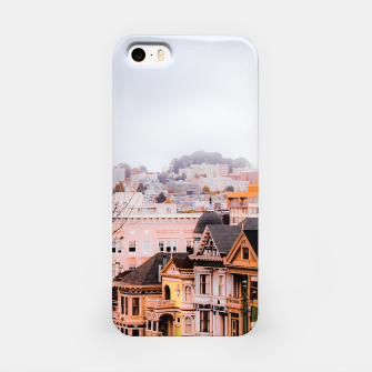 Thumbnail image of before sunset city view at Alamo Square, San Francisco, California, USA iPhone Case, Live Heroes