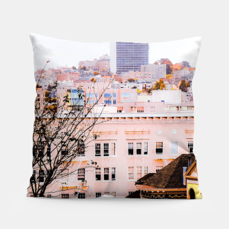 Thumbnail image of City view at Alamo Square, San Francisco, California, USA Pillow, Live Heroes