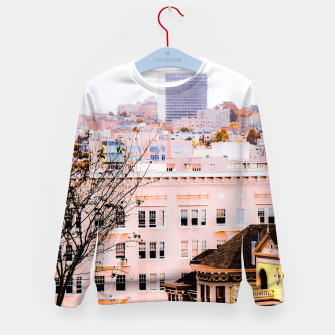 Thumbnail image of City view at Alamo Square, San Francisco, California, USA Kid's sweater, Live Heroes