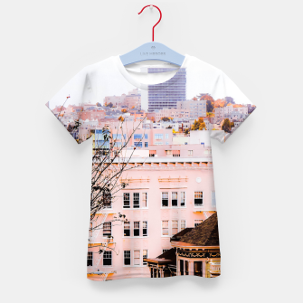 Thumbnail image of City view at Alamo Square, San Francisco, California, USA Kid's t-shirt, Live Heroes