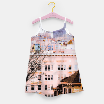 Thumbnail image of City view at Alamo Square, San Francisco, California, USA Girl's dress, Live Heroes
