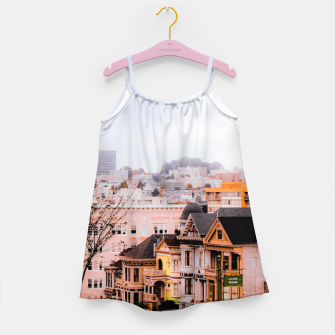 Thumbnail image of before sunset city view at Alamo Square, San Francisco, California, USA Girl's dress, Live Heroes