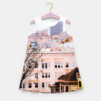 Thumbnail image of City view at Alamo Square, San Francisco, California, USA Girl's summer dress, Live Heroes