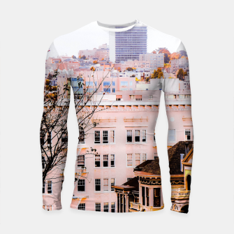 Thumbnail image of City view at Alamo Square, San Francisco, California, USA Longsleeve rashguard , Live Heroes