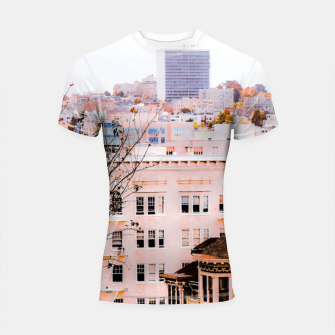 Thumbnail image of City view at Alamo Square, San Francisco, California, USA Shortsleeve rashguard, Live Heroes