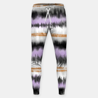Thumbnail image of Linear tie dye strokes Pantalones de chándal , Live Heroes