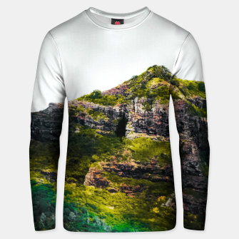 Miniatur green tropical mountains at Kauai, Hawaii, USA Unisex sweater, Live Heroes