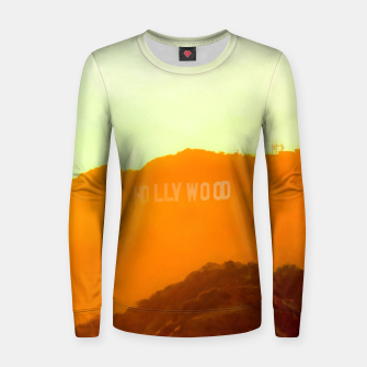 Thumbnail image of sunset sky in summer at Hollywood Sign, Los Angeles, California, USA Women sweater, Live Heroes