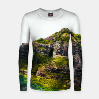 Miniatur green tropical mountains at Kauai, Hawaii, USA Women sweater, Live Heroes