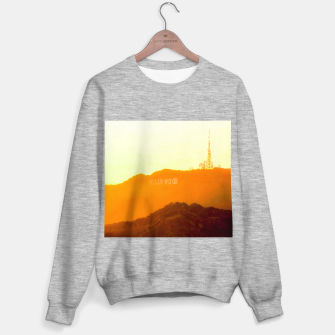 Thumbnail image of sunset sky in summer at Hollywood Sign, Los Angeles, California, USA Sweater regular, Live Heroes