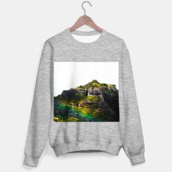 Miniatur green tropical mountains at Kauai, Hawaii, USA Sweater regular, Live Heroes