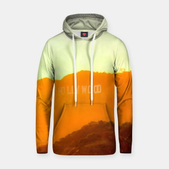 Thumbnail image of sunset sky in summer at Hollywood Sign, Los Angeles, California, USA Hoodie, Live Heroes
