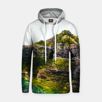 Miniatur green tropical mountains at Kauai, Hawaii, USA Hoodie, Live Heroes