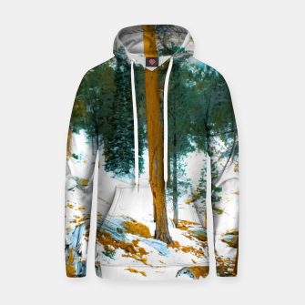 Miniature de image de green pine tree in winter with snow at Palm Springs Aerial Tramway, California, USA Hoodie, Live Heroes