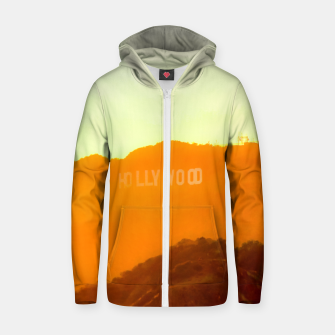 Thumbnail image of sunset sky in summer at Hollywood Sign, Los Angeles, California, USA Zip up hoodie, Live Heroes