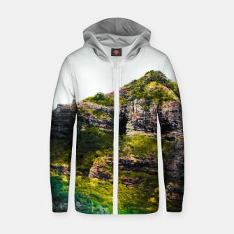 Miniatur green tropical mountains at Kauai, Hawaii, USA Zip up hoodie, Live Heroes
