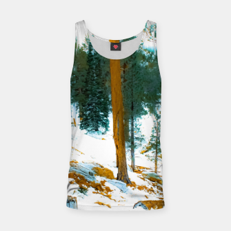 Miniature de image de green pine tree in winter with snow at Palm Springs Aerial Tramway, California, USA Tank Top, Live Heroes