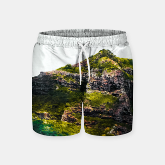Miniatur green tropical mountains at Kauai, Hawaii, USA Swim Shorts, Live Heroes