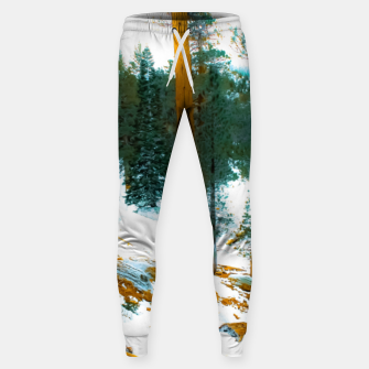 Miniature de image de green pine tree in winter with snow at Palm Springs Aerial Tramway, California, USA Sweatpants, Live Heroes