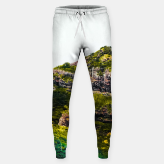 Miniatur green tropical mountains at Kauai, Hawaii, USA Sweatpants, Live Heroes